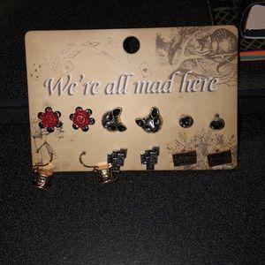 Jewelry - Alice in wonderland themed earrings